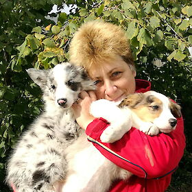 Barbara mit zwei ihrer Border Collies, Nationales Register | privat