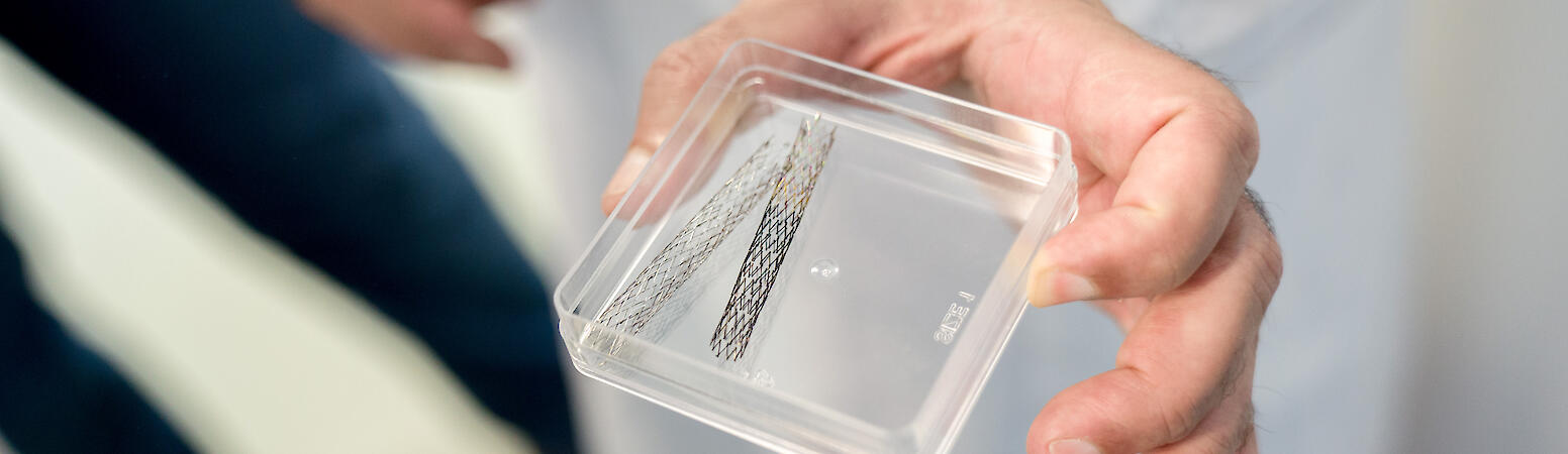 Nanobeschichtete Stents, Wolfram Scheible für Nationales Register